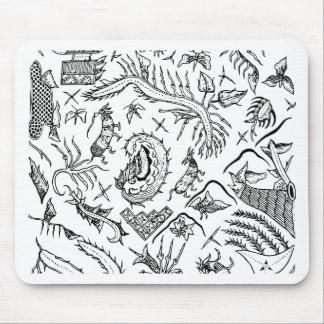 Mousepad Teste padrão indonésio de matéria têxtil dos