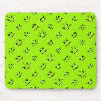 Mousepad Teste padrão insolente do Doodle das expressões -