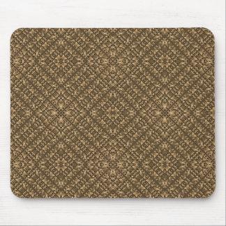 Mousepad Teste padrão Ornamented de madeira