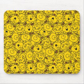 Mousepad Teste padrão pequeno dos sorrisos do amarelo do