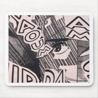 Mousepad Teste padrão preto e branco da história em
