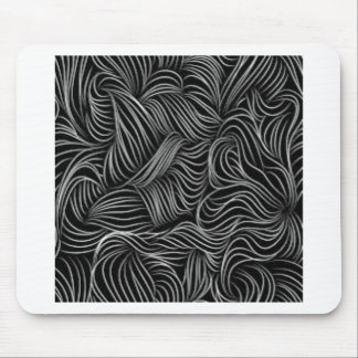 Mousepad Teste padrão preto e branco de conexão em cascata