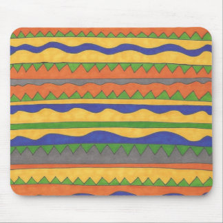 Mousepad Teste padrão tribal asteca colorido