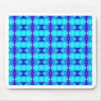Mousepad Teste padrão tribal dos azuis marinhos azuis de