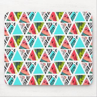 Mousepad Teste padrão tropical abstrato colorido