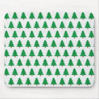 Mousepad Teste padrão verde da árvore de Natal