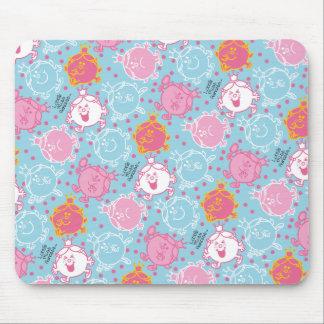 Mousepad Testes padrões cor-de-rosa da senhorita princesa |