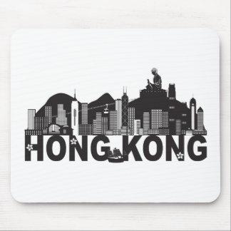 Mousepad Texto da estátua de Buddha da skyline de Hong Kong