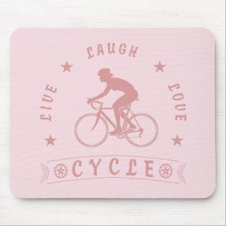 Mousepad Texto da Vida Riso Amor Ciclo da senhora (rosa)