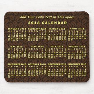 Mousepad Texto mensal do costume do feijão de café do