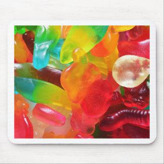 Mousepad textura colorida da goma da geléia