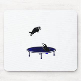 Mousepad texugos trampolining