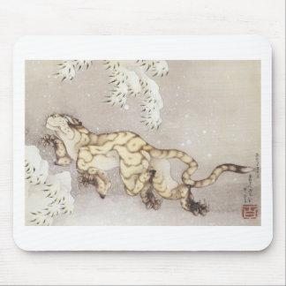 Mousepad Tigre velho na neve