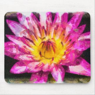 Mousepad Tinta roxa da aguarela do lírio de água