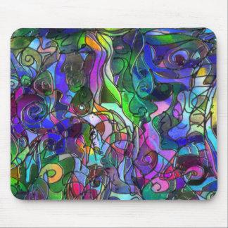 Mousepad Todas as cores com redemoinhos e linhas
