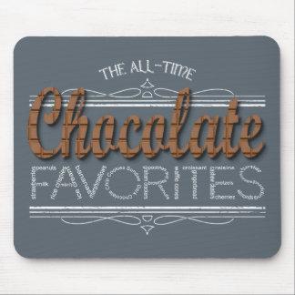 Mousepad Todos os favoritos do chocolate