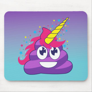 Mousepad Tombadilho roxo do unicórnio de Emoji