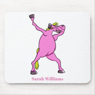 Mousepad Toque ligeiro cor-de-rosa do cavalo