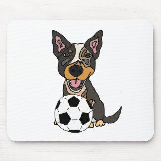 Mousepad Trabalhos de arte australianos do futebol do cão
