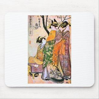 Mousepad Trabalhos de arte japoneses da gueixa do vintage