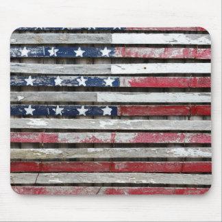 Mousepad Trabalhos de arte pintados de madeira da bandeira