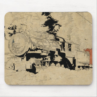 Mousepad Trem do vapor do vintage