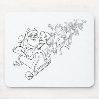 Mousepad Trenó do trenó do Natal de Papai Noel e de rena
