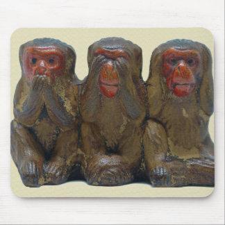 Mousepad Três macacos sábios