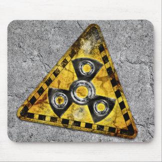 Mousepad Triângulo de advertência da radiação nuclear do