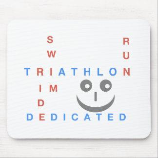 Mousepad Triathlon eu sou dedicado