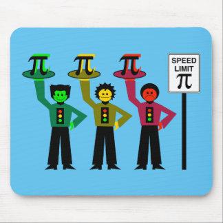 Mousepad Trio temperamental do sinal de trânsito ao lado do