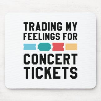 Mousepad Trocando meus sentimentos para bilhetes do