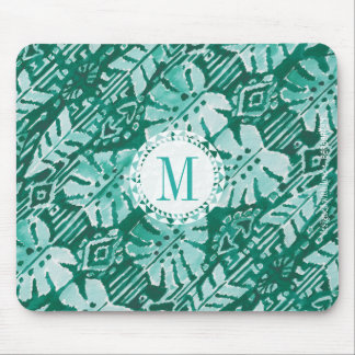 Mousepad Tropical verde havaiano da SELVA IKAT do monograma