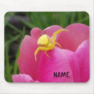 Mousepad Tulipa amarela brilhante do rosa da aranha do
