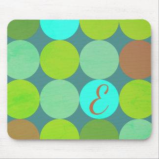 Mousepad Turquesa da cerceta do verde limão & monograma dos