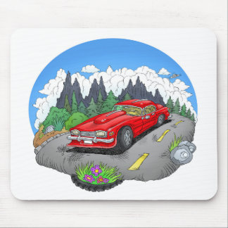 Mousepad Uma ilustração dos desenhos animados de um carro