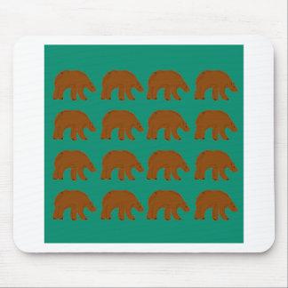 Mousepad Ursinhos na edição da hortelã