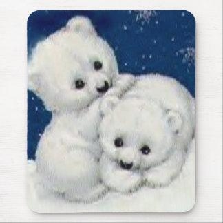 Mousepad Urso Cubs polar bonito