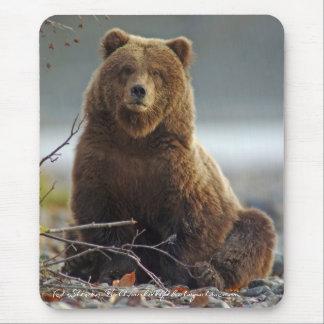 Mousepad Urso de Brown do Alasca em Kenai NWR