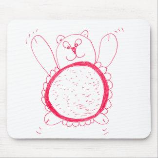 Mousepad Urso do girassol