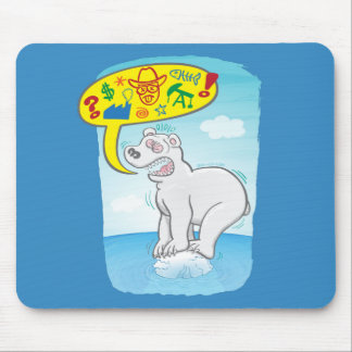 Mousepad Urso polar que diz as palavras más que estão no