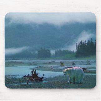 Mousepad Urso raro do espírito e BC rio enevoado