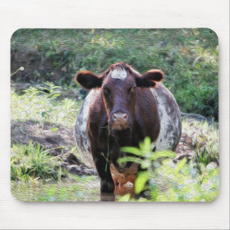 Mousepad Vaca de leiteria do Shorthorn que refrigera no