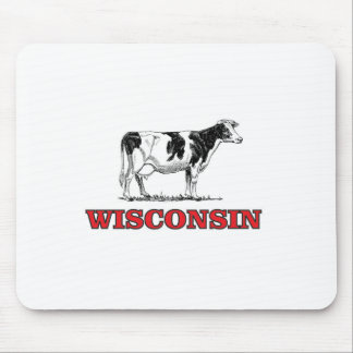 Mousepad vaca vermelha de Wisconsin