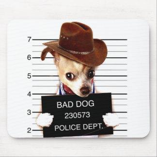 Mousepad vaqueiro da chihuahua - cão do xerife