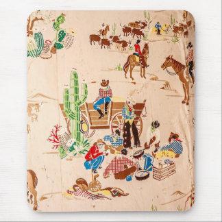 Mousepad Vaqueiros - papel de parede do vintage - oeste