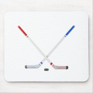 Mousepad Varas e disco de hóquei em gelo