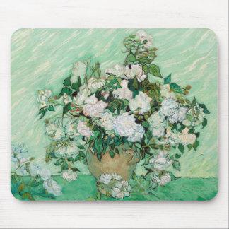 Mousepad Vaso de Van Gogh com pintura floral dos rosas