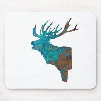 Mousepad veado principal dos cervos nos turqouis e no