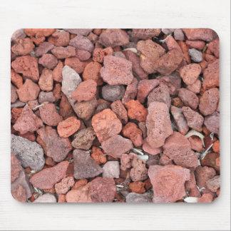 Mousepad Vegetação rasteira vermelha das rochas vulcânicas